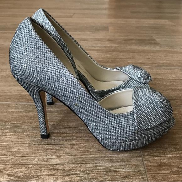 25b9e8851c Caparros Shoes   Silver Sparkle Baldwin Heels   Poshmark